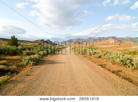 dirt road through the desert