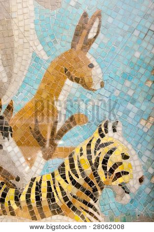 animal art design wall