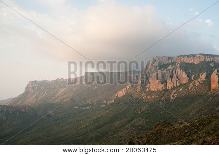 Juniper Canyon and Chicos Mountains at sunrise