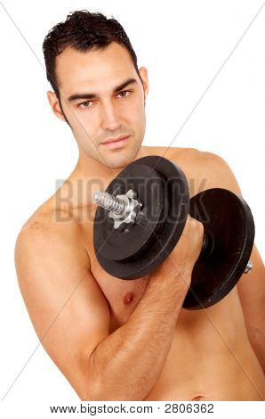 Man Doing Weights