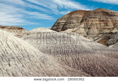 blue mesa hills, layers of painted desert