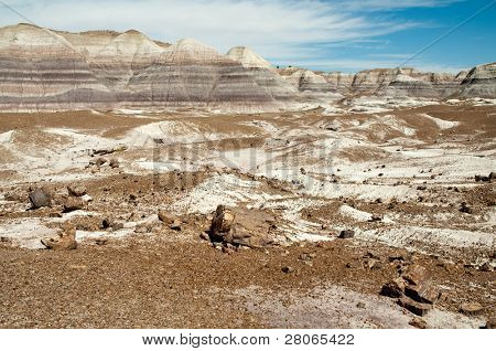 blue mesa painted desert and petrified wood