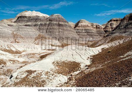 Blue Mesa, painted desert hills