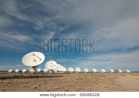 Very Large Array and open desert landscape