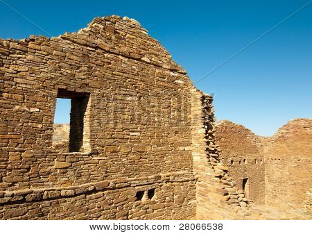 Pueblo Del Arroyo native american indian wall ruins