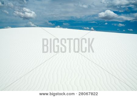 sand dune and dynamic sky