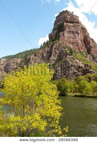 Glenwood Canyon and rock cliffs