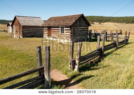 Hornbeck Farmstead buildings on the plains