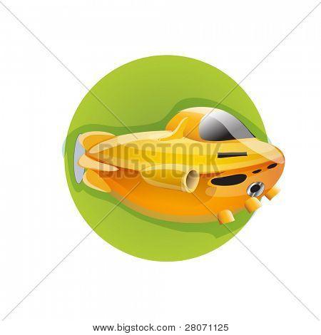 Sport green round icons: submarine