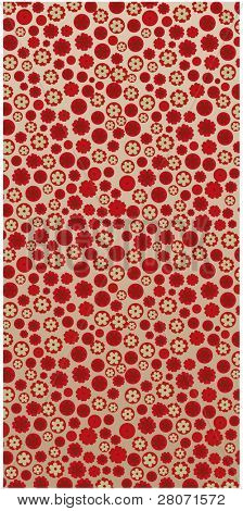 vector red flowers background