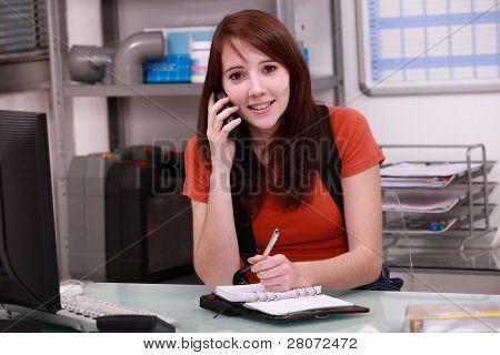 Cita de cliente de reserva de mujer