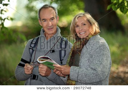 senior couple going for a walk