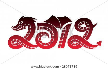 New Year 2012 dragon
