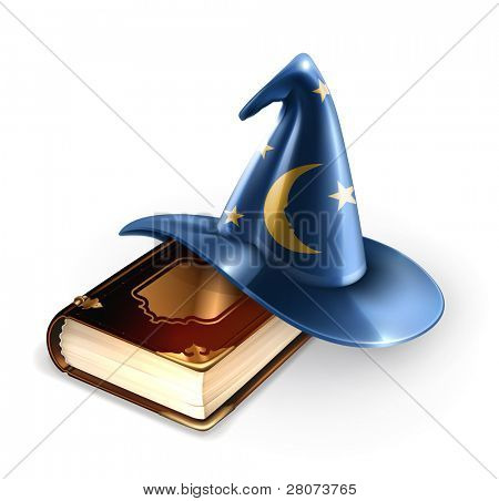 Wizard hat and old book, 10eps