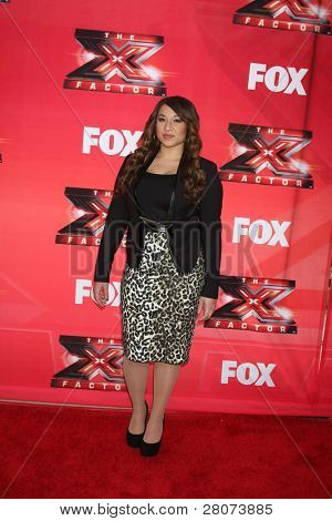LOS ANGELES - DEC 19:  Melanie Amaro at the FOX's