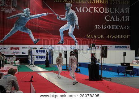 MOSCOW, RUSSIA - FEBRUARY 12: International tournament in fencing