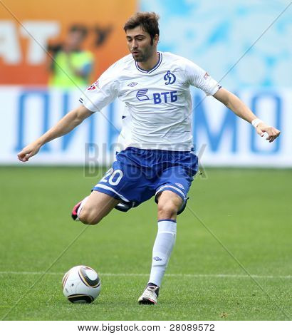 MOSCOW - JULY 3: Dynamo Moscow's midfielder Adrian Ropotan in the VTB Lev Yashin Cup: FC Dynamo Moscow vs. FC Dynamo Kyiv (2:0), July 3, 2010 in Moscow, Russia.