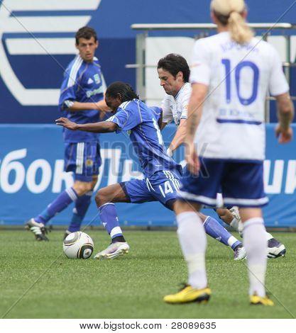 MOSCOW - JULY 3: Dynamo Kyiv's midfielder Frank Temile (14) in the VTB Lev Yashin Cup: FC Dynamo Moscow vs. FC Dynamo Kyiv (2:0), July 3, 2010 in Moscow, Russia.