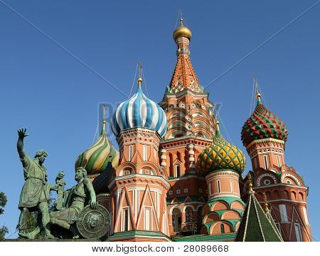 Moscow, Russia, Saint Basil's cathedral.