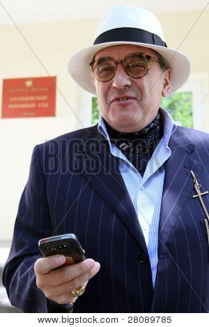 MOSCOW - JUNE 29: Counsel Alexander Dobrovinsky in front of Solntsevskiy court before hearing of business of billionaire Rustam Tariko, June 29, 2010 in Moscow, Russia.
