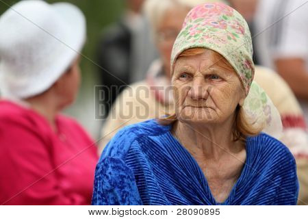 VINNICI, LENINGRAD REGION, RUSSIA - JUNE 12: People celebrate the annual holiday Vepsian national culture