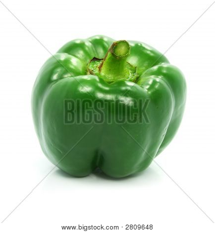 Green Pepper Vegetable Isolated