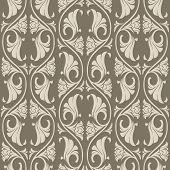 Gothic Floral Seamless Pattern. Vertical Rhythm. Popular Motiff In Medieval European Art. Element Fo poster