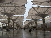 foto of saudi arabia  - Umbrella Madinah Haram open from fajer to magrib prayer - JPG