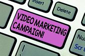 Handwriting Text Writing Video Marketing Campaign. Concept Meaning Assessing The Benefit Of Digital  poster