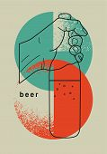 Beer Typographic Vintage Grunge Style Poster. Retro Vector Illustration. poster