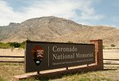 stock photo of conquistadors  - Coronado National Memorial sign - JPG