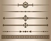 Decorative Elements. Design Elements - Decorative Line Dividers And Ornaments. Vector Illustration. poster