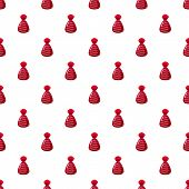 Chocolate Candy In Red Wrap Con. Cartoon Illustration Of Chocolate Candy In Red Wrap Pattern Seamles poster