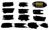 Large Set Different Grunge Brush Strokes. Dirty Artistic Design Elements Isolated On White Backgroun poster