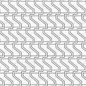 Abstract Seamless Geometric Pattern. Modern Stylish Texture With Monochrome Trellis. Repeating Geome poster