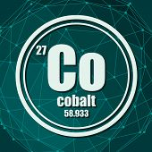Cobalt Chemical Element. Sign With Atomic Number And Atomic Weight. Chemical Element Of Periodic Tab poster