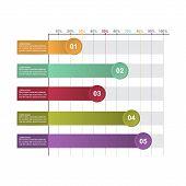 Bar Chart Graph Diagram Statistical Horizontal Infographic Illustration poster