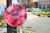 Occupy Louisville Protest Site