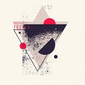 Modern Abstract Art Geometric Background With Flat, Minimalistic Style. Vector Poster poster