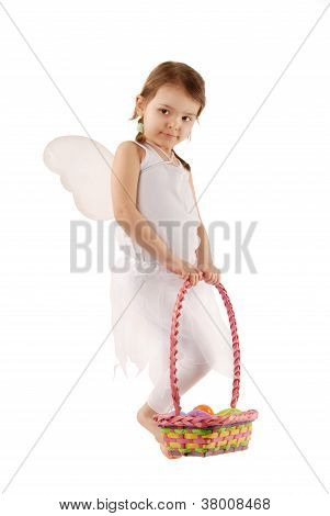 Fairy Girl At Easter