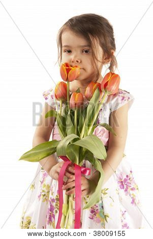 Girl With Tulip