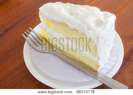 A Piece Of Young Coconut Cake