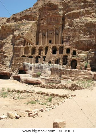 Ruins And Mountains Of Petra