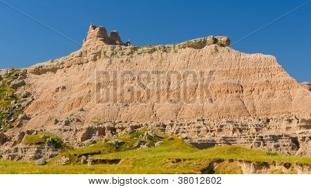 Badlands Escarpment In The Summer