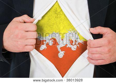 The Bhutanese flag