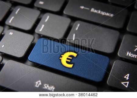 Make Money With Internet Euro Zone Concept