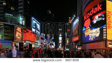 The Panorama View Of Times Square