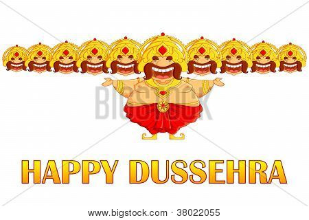 Ravana in Dussehra