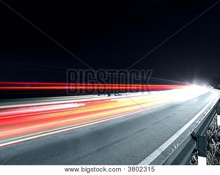 Speeding Traffic At Night