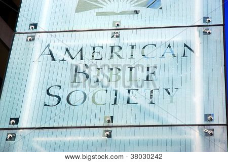 American Bible Society Sign